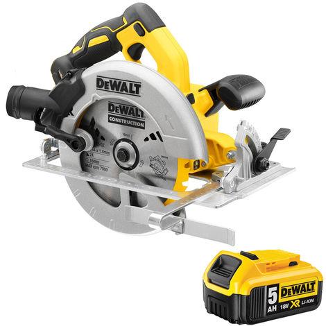 DeWalt DCS570N 18V 184mm Brushless Circular Saw with 1 x 5.0Ah Battery:18V
