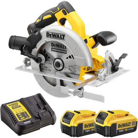 DeWalt DCS570N 18V 184mm Brushless Circular Saw with 2 x 4.0Ah Batteries & Charger:18V