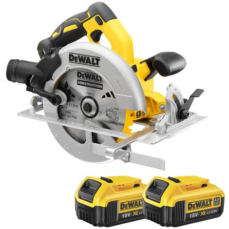 DeWalt DCS570N 18V 184mm Brushless Circular Saw with 2 x 4.0Ah Batteries:18V