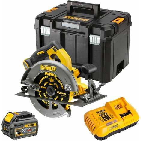 """main image of """"DeWalt DCS575N 54V Brushless Circular Saw with 1 x 6.0Ah Battery Charger & TStak"""""""