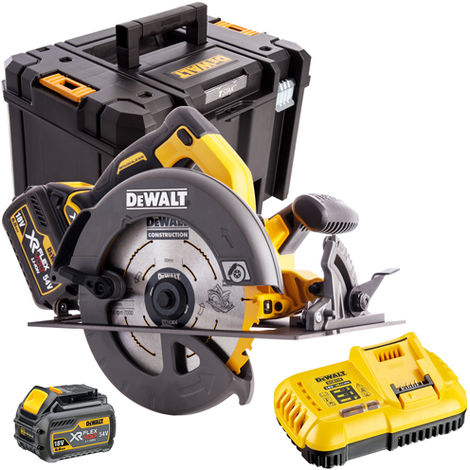 DeWalt DCS575T2 54V FlexVolt 190mm Circular Saw with 2 x 6.0Ah Batteries & Charger in Case