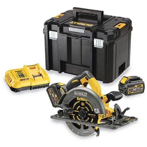 DeWalt DCS576T2 54V XR FLEXVOLT Circular Saw with 2 x 6.0Ah Batteries and T-Stak Case