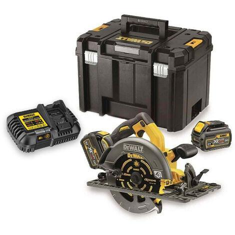 DeWalt DCS576T2 XR Flexvolt 54v 190mm Circular Saw Kit with 2 x 6.0Ah Batteries