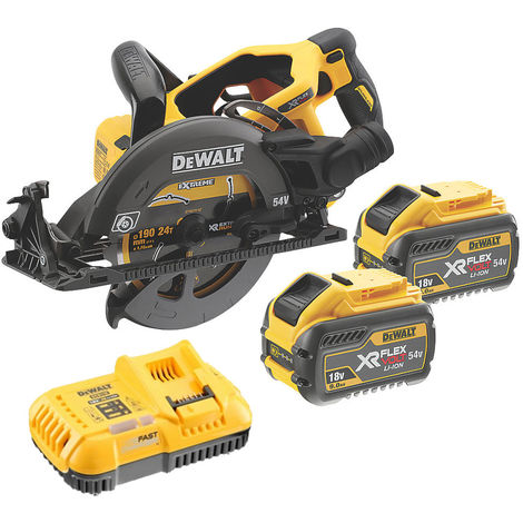 Dewalt DCS577T2 54V FlexVolt XR High Torque Circular Saw With 2 x 6.0Ah Batteries Charger:54V