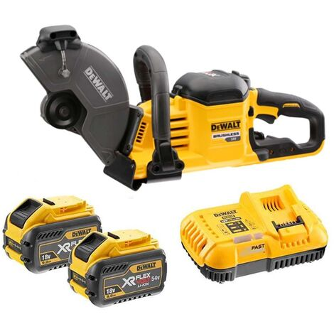DeWalt DCS690X2-GB XR 230mm FlexVolt Cut Off Saw 54V with 2x 9.0Ah Batteries