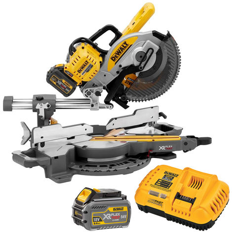 Dewalt DCS727T2 54 Volt XR Flexvolt Brushless Slide Mitre Saw With 2 x 6.0Ah Batteries Charger