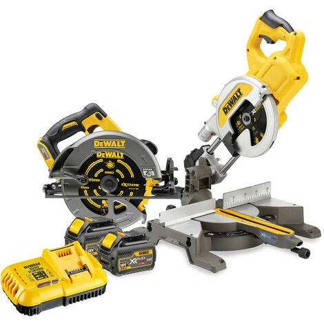 Dewalt DCS775 XR Flexvolt 54v Saw Kit with 2 x 6.0Ah Batteries