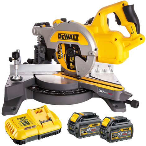 Dewalt DCS777T2 54V Flexvolt 216mm Miter Saw with 2 x 6.0Ah Batteries & Charger