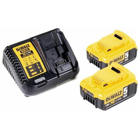 DeWalt DCW 210 P2 Ponceuse excentrique sans fil et sans balais 18V 125 mm + 2x Batterie 5,0 Ah + Chargeur + Coffret de transport