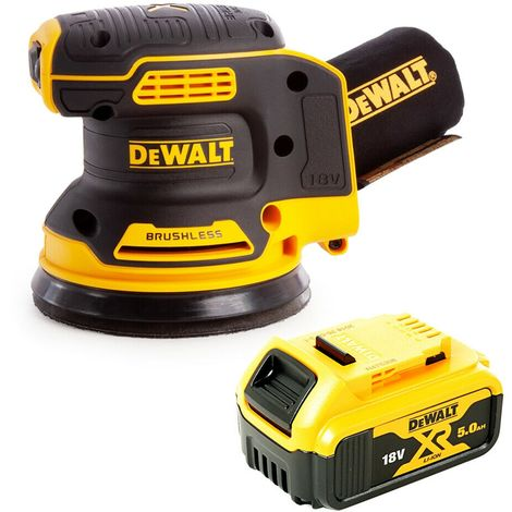 DeWalt DCW210 18V Random Orbital Sander 125mm With 1 x 5Ah Battery