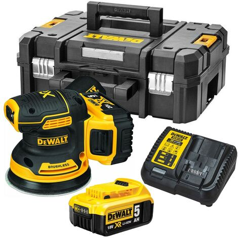 Dewalt DCW210P2 Cordless Brushless 18v XR Random Orbital Sander 125mm - 2x 5.0ah