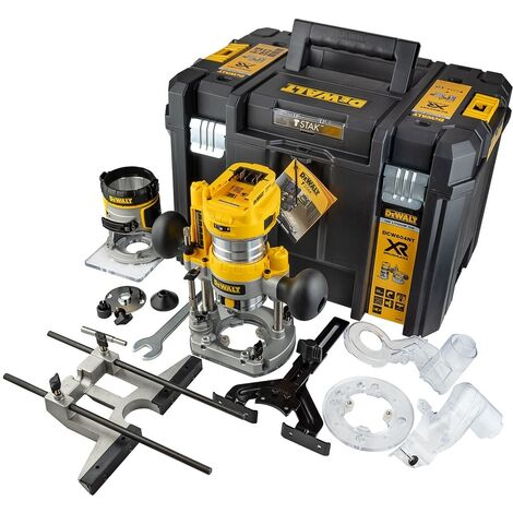 """Dewalt DCW604NT-XJ - 18V XR Brushless ¼"""" Router With Fixed & Plunge Bases  """