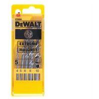 DEWALT DEWDT6956QZ Extreme Masonry Drill Bit Set 5 Piece