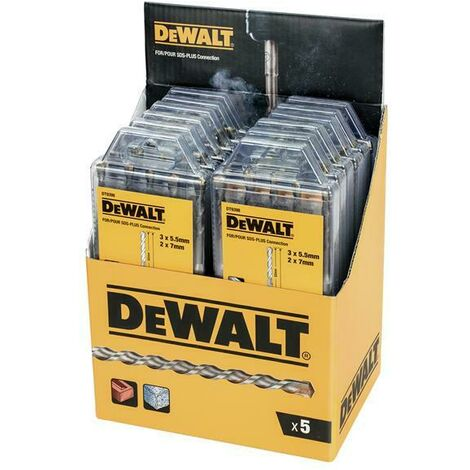 DeWalt DEWDT9398MQZ DT9398 SDS Plus Drill Bit Set 5 Piece Display of 12