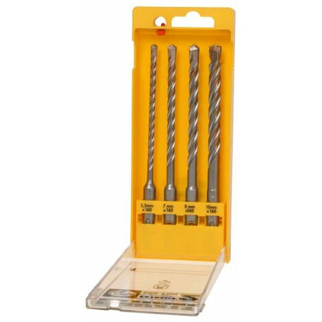 DeWalt DEWDT9702QZ Extreme 2 SDS Plus Drill Bit Set 4 Piece 5.5-10mm