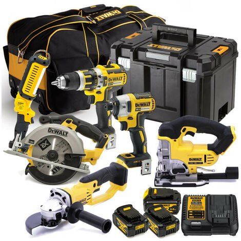 DeWalt DEWKIT63X4 XR 18V Cordless 6pc Kit with 3x 4.0Ah Batteries