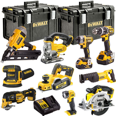 DeWalt DEWT4T10AP1 18V XR 10 Piece with 2 x 5.0Ah Li-ion KIT:18V