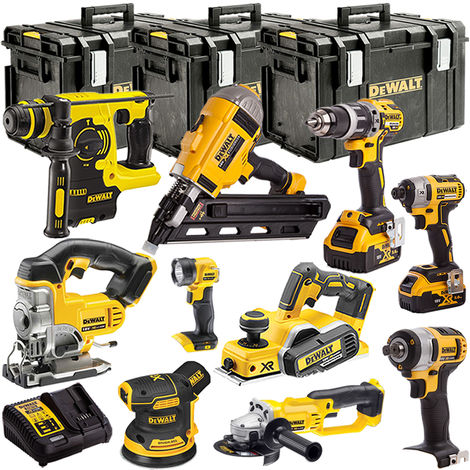 DeWalt DEWT4TKIT79 18V XR 10 Piece with 2 x 5.0Ah Li-ion KIT:18V