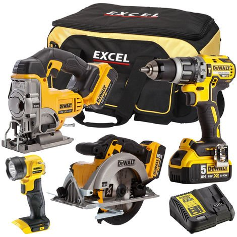 DeWalt DEWT4TKIT99 4 Piece Power Tool Kit 18V