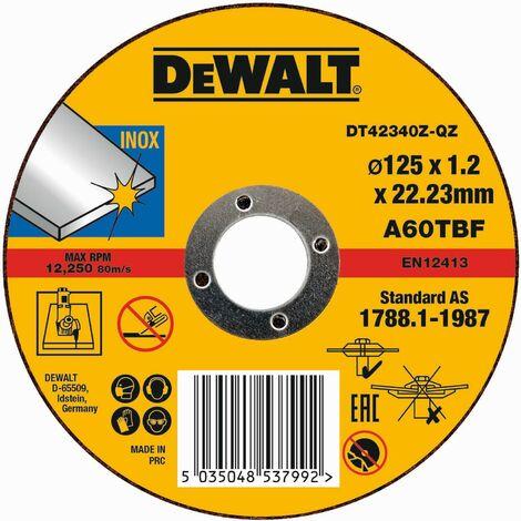 DeWALT Disque à tronçonner, 125x1,2 mm - DT42340Z-QZ