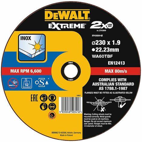 DeWALT Disque à tronçonner 230 x 1,9 mm - DT43939-QZ