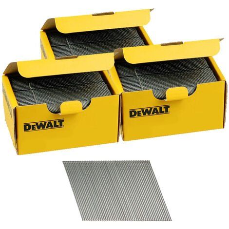 DeWalt DNBA1638GZ 16G 38mm Angled Galvanised 2nd Fix Nails 3 Boxes 7500pk