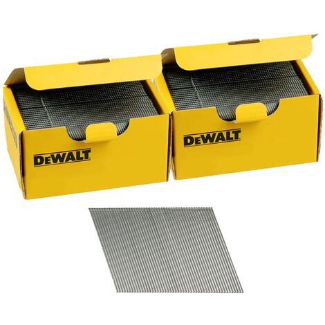 DeWalt DNBA1644GZ 16G 44mm Angled Galvanised 2nd Fix Nails 2 Boxes 5000pk
