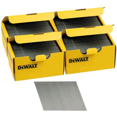 DeWalt DNBA1644GZ 16G 44mm Angled Galvanised 2nd Fix Nails 4 Boxes 10000pk