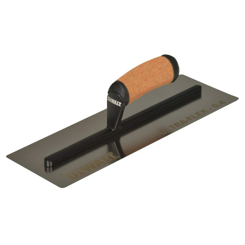 Image of 0.4mm FLEX Stainless Steel Flat Trowel, Leather Handle 14in - Dewalt Drywall