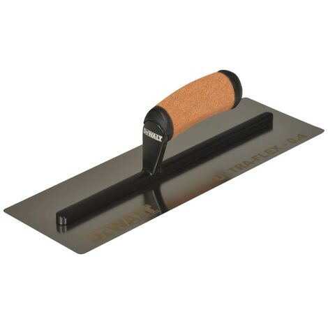 DeWALT Drywall 0.4mm FLEX Stainless Steel Flat Trowel, Leather Handle 14in