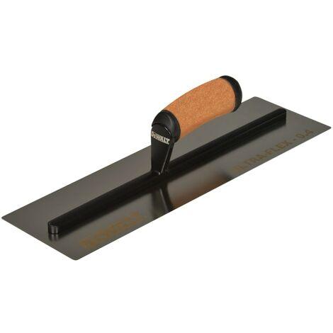 DeWALT Drywall 0.4mm FLEX Stainless Steel Flat Trowel, Leather Handle 16in