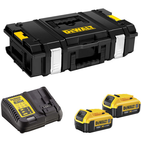 DeWalt DS150 Toughsystem Storage ToolBox Case with 2 x 4.0Ah Batteries & Charger
