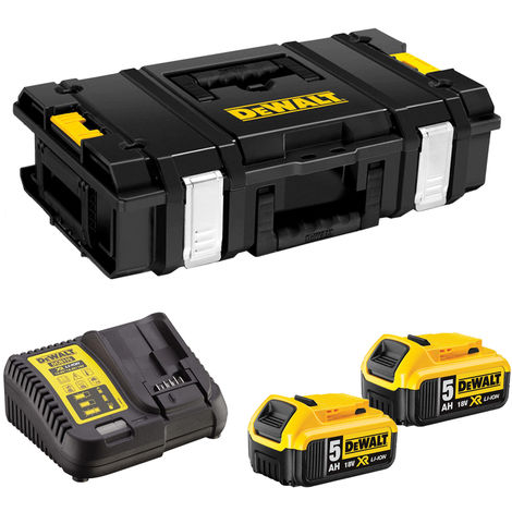 DeWalt DS150 Toughsystem Storage ToolBox Case with 2 x 5.0Ah Batteries & Charger