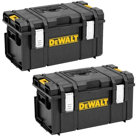 Dewalt DS300 Toughsystem Stack-able Toolbox - Twin Pack