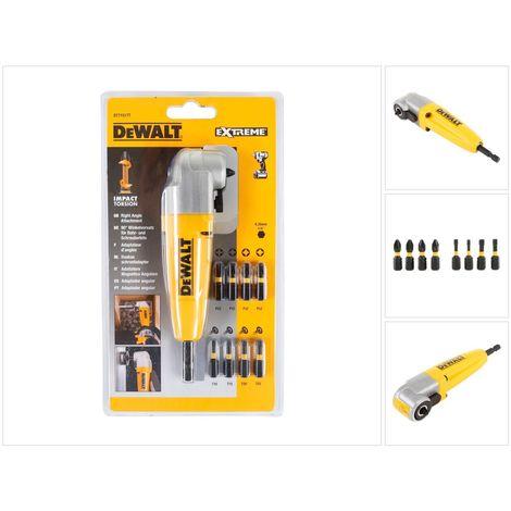 DeWalt DT 71517 T 90 Grad Winkelvorsatz mit 9 Impact Bits