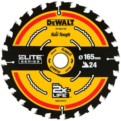 DeWalt DT10624 165mm 24T 20mm Extreme Cordless Circular Saw Blade