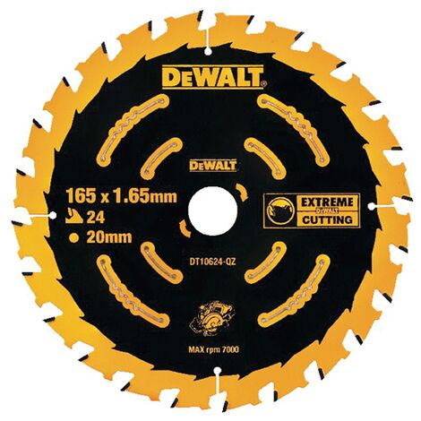 DeWalt DT10624 Circular Saw Blade Cordless Extreme Framing - 165 x 20mm 24T
