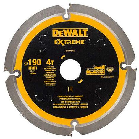 Dewalt DT1472-QZ 190 x 30mm x 4TExtreme PCD Fibre Cement Saw Blade