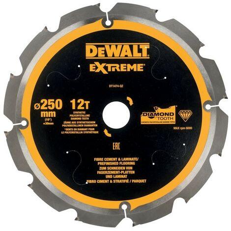 DEWALT DT1474-QZ - Multi-Material feuilles de coupe (Fibrocemento) 250x30mm X12D