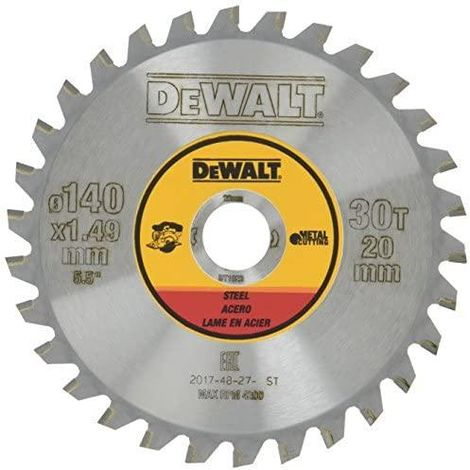 "main image of ""DeWALT DT1923-QZ 140 x 20 30T Steel Cordless Saw Blade"""