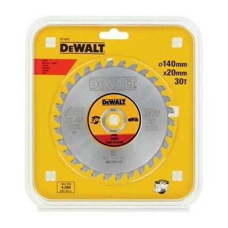 DEWALT DT1923-QZ - Sheet pour scie circulaire sans fil 140x20mm 30D pour D'acier JCC1 5 °