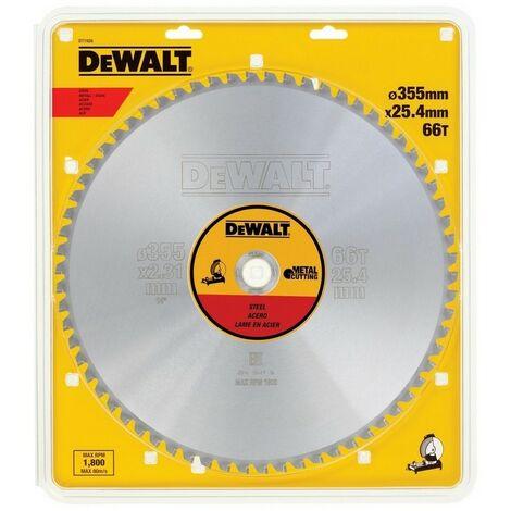 DEWALT DT1926-QZ - Sheet pour scie circulaire stationnaire 355x25.4mm 66D pour D'acier JCC1 5 °