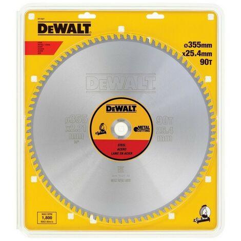 DEWALT DT1927-QZ - Sheet pour scie circulaire stationnaire 355x25.4mm 90D pour D'acier JCC1 5 °