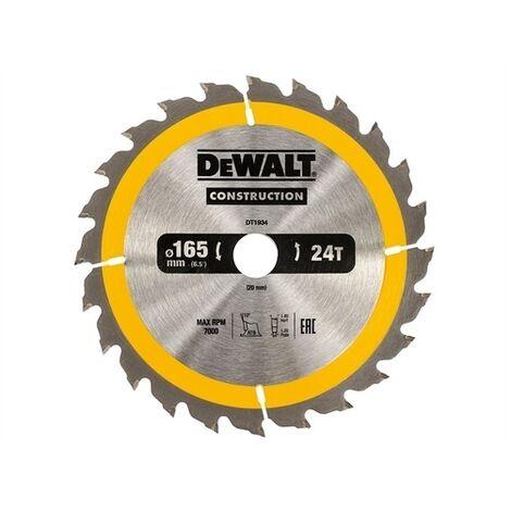 DeWalt DT1934-QZ Construction Circular Saw Blade 165 x 20mm x 24T