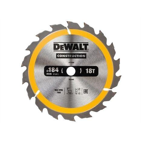 DeWalt DT1938-QZ Construction Circular Saw Blade 184 x 16mm x 18T