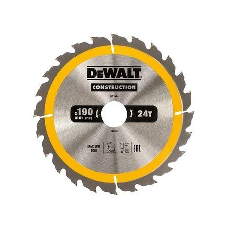 DeWalt DT1944-QZ Construction Circular Saw Blade 190 x 30mm x 24T