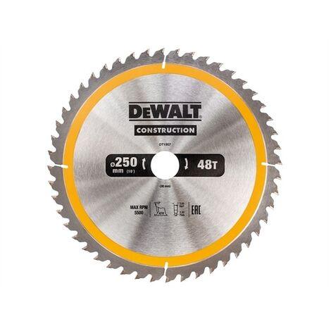 DeWalt DT1957-QZ Construction Circular Saw Blade 250 x 30mm x 48T