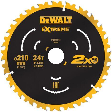 DeWALT DT20432-QZ Extreme 210 x 30mm 24T TCT Saw Blade