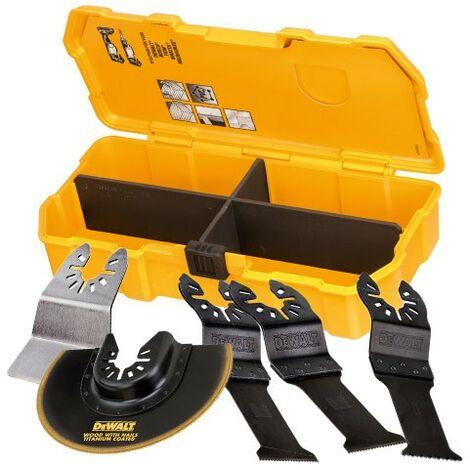 "main image of ""Dewalt DT20715 Multi Tool Accessory Blade Set 5 Piece + Toughcase DCS355 DWE315"""