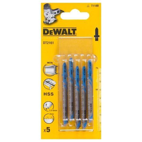 Dewalt DT2161-QZ Lame de scie sauteuse métal et alu HSS Pofondeur de coupe 6mm Attache en T Aluminium / Metal